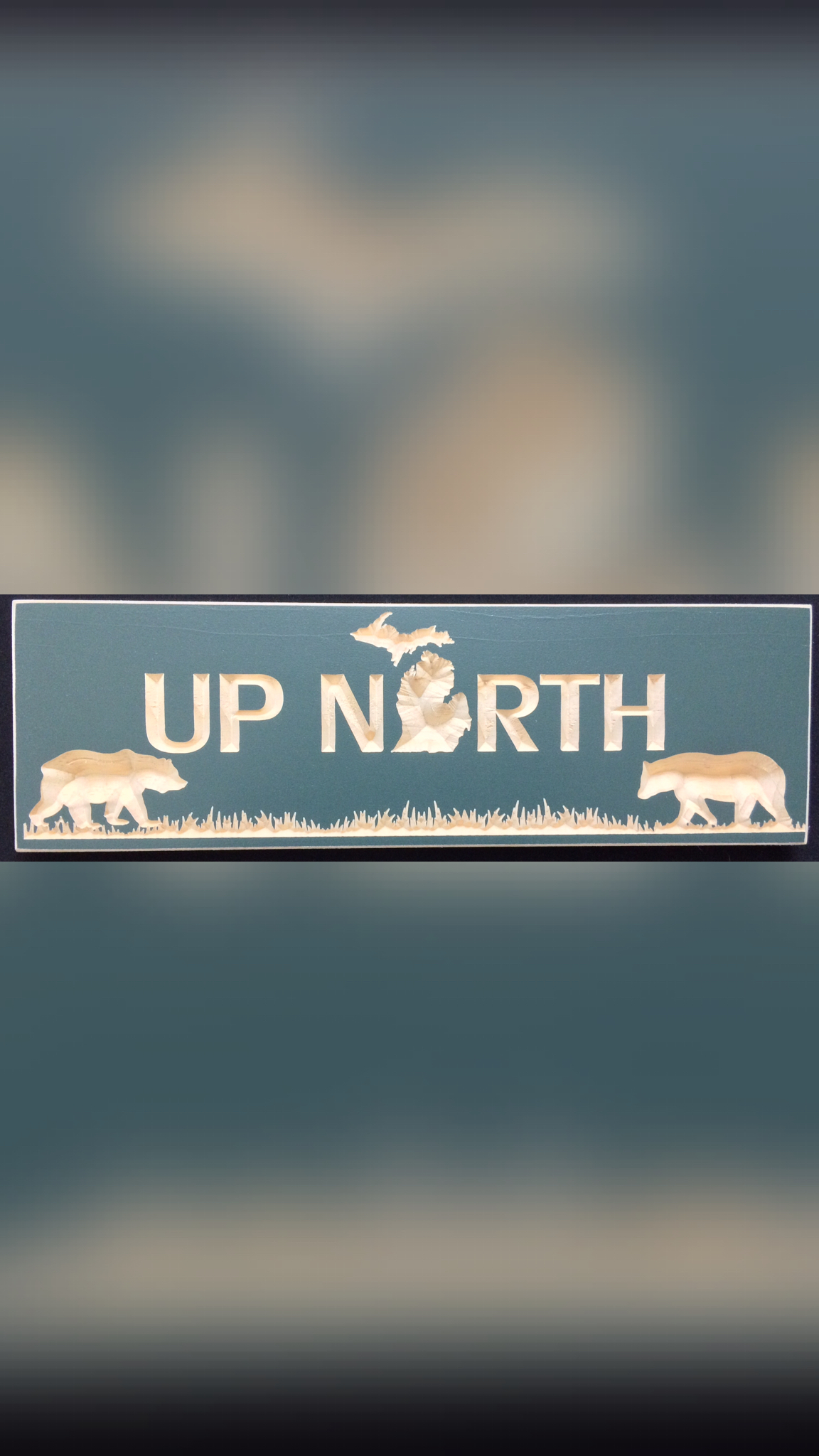 Mi Up North Bears With Grass Christy S Coop Signs Michigan